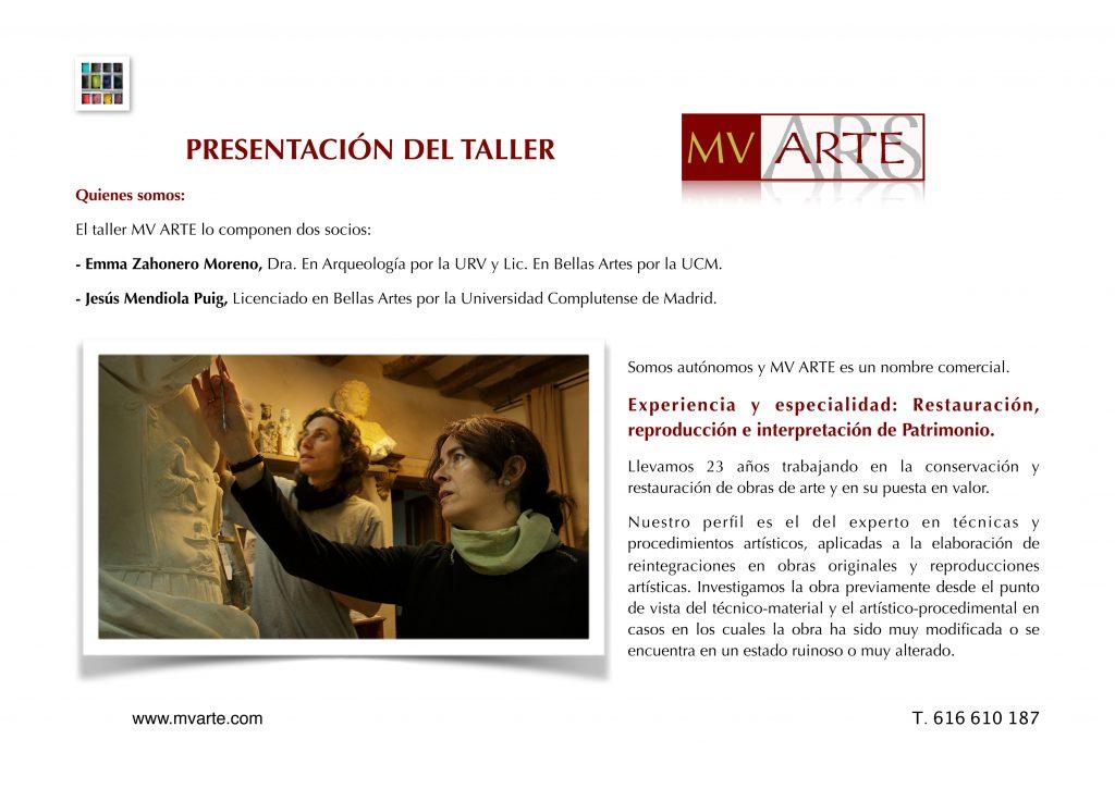 Presentación MV Arte                   Nuestra especialidad,         Arte Sacro: